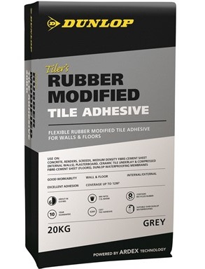 Dunlop Tilers Rubber modified tile adhesive
